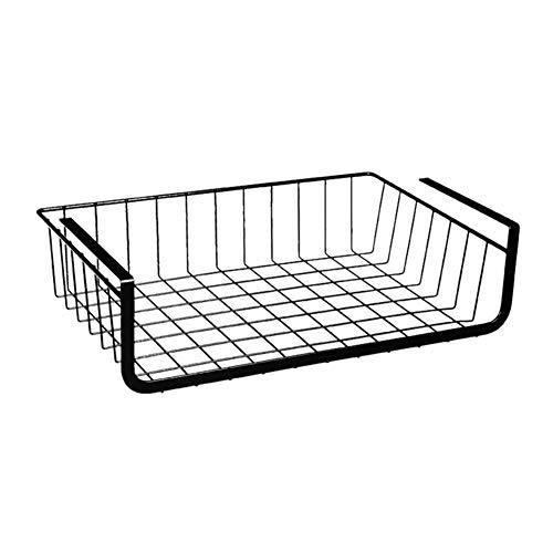 iBaste Hängekorb aus Metall Aufbewahrungs-Korb für Küchenschränke Kleiderschränke Regale Unterbauschrank Unterbau-Regal