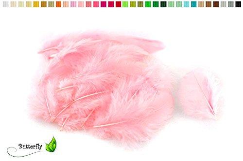 5g Bastelfedern 5-10cm (rosa 148) // Dekofedern Hühnerfedern Marabu Federn Schmuckfedern Marabufedern