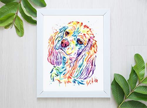 Cocker Spaniel Wall Art, American Cocker Spaniel Gift, English Cocker Spaniel Print, Cocker Spaniel Painting, Dog Painting| Art Print of Cocker Spaniel Original Watercolor Painting | Dog Memorial Gift