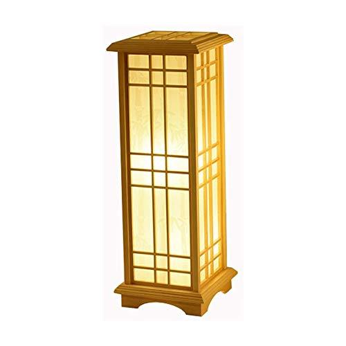 Hmvlw lámpara de piso Lámpara de pie sólido de dormitorio de madera Lámpara de pie de noche japonesa sofá de la sala de la lámpara Sauna Termal tatami llevó la lámpara de escritorio de madera maciza v