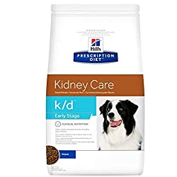 HILL'S PRESCRIPTION DIET Early Stage Dry Dog Food Original Flavour is clinically proven nutrition to help sustain vital kidney function and health body condition in dogs with early stages of kidney conditions. Urinary problems or failure should have ...