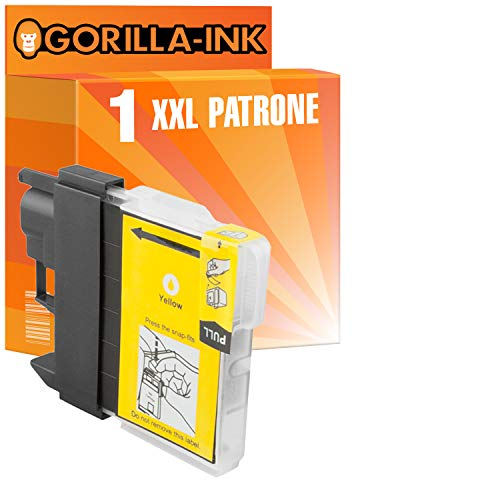 Gorilla de Ink Bajo–Juego de 2cartuchos de tinta XXL compatible para Brother LC1100MFC-990CW MFC-5490CN MFC-J 615W MFC-790CW, h-1112790series MFC 795CW Amarillo