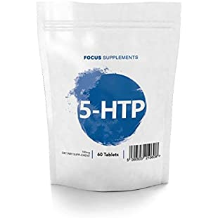 5 HTP Tablets - 100mg | for Mood Support & Natural Weight Loss | Focus Supplements - Manufactured in The UK in ISO Licensed Facilities - 100% Money Back Guarantee (60 Tablets)