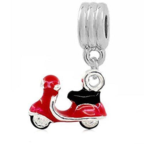 Sexy Sparkles Damen Charm-Anhänger Elektroauto Scoote für Schlangenkette
