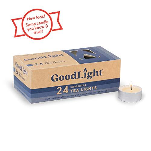 GoodLight Paraffinfrei Natürliche Teelichter Kerze, 24 Stück