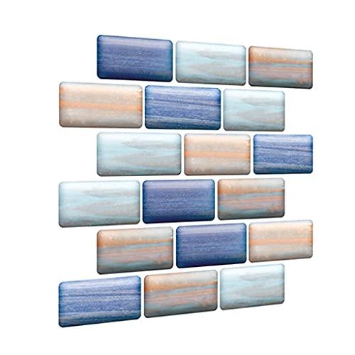 Vinilos de Cocina Papel Pintado Impermeable Grueso 3D, Pared de Fondo de la imitación del Fondo de ladrillo, Pegatina de azulejo de pelado Autoadhesivo 30x30cm (Color : 2pcs)