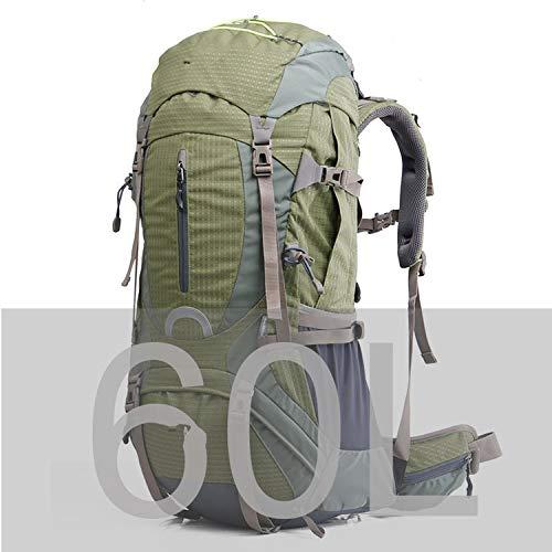 OASIS LAND Professional Climb Backpack Travel Backpack Trekking Rucksack Camp Equipment Hike Gear 50L 60L Men Women-Green60L-OneSize