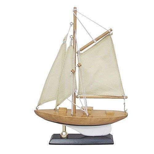 Kleine Zeiljacht, Amerika ́S Cup Class, Model Boot met Stof Zeil