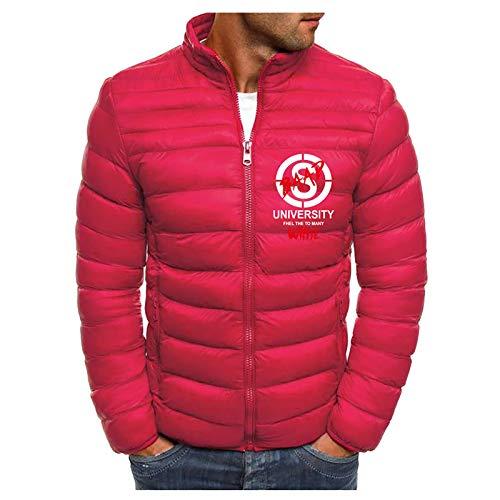 KaloryWee 2020 Herbst Winter Leichte Daunenjacke von Deutschen Männern Strickjacke mit Stehkragen Einfarbig Streetwear Übergangsjacke Mantel