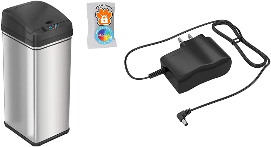 Direct stock discount iTouchless 13 Gallon Pet-Proof Sensor Trash Opening L Cats Can safety