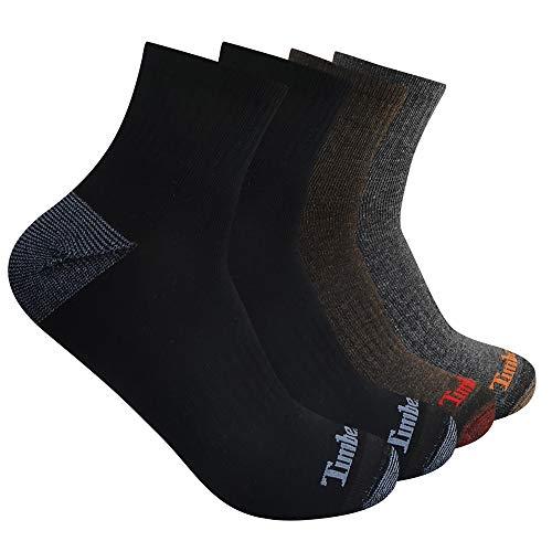 Timberland Herren 4-Pack Half Cushioned Quarter Viertel, Socke, Mehrfarbig, Einheitsgröße