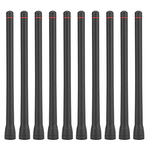 Antena Robusta portátil, Corta, Ligera, 10 Piezas, Material ABS, Mucho Tiempo para Radio walkie-Talkie IC-F3 / F11 / F14