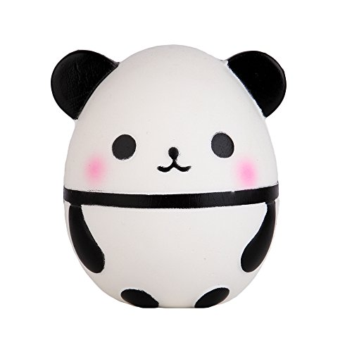 Anboor 3.9 Inches Squishies Panda Egg Kawaii Soft Slow Rising Mini Animal Squishies Squeeze Toys for Kids Gift Collection
