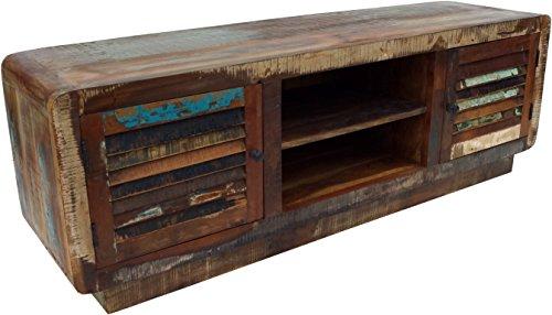 Guru-Shop Lowboard, TV-tafel, Platte Ladekast Vintage Look - Model 2, Veelkleurig, 50x150x40 cm, Ladekasten Dressoirs