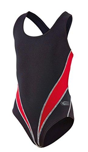 Beco Mädchen Competition Badeanzug, rot/Schwarz, 176