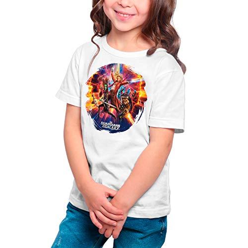 Camiseta Niña - Unisex Superhéroes, Guardianes de la Galaxia (Blanco, 5 años)