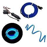 Tiras de ajuste de molduras interiores del coche - Automan 16.4ft Gap Filtros de relleno Tiras Auto Universal Decoraciones Automóvil bricolaje Gap Garnish accesorio (Azul 5M)