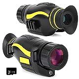 Tools Videocámara con cámara monocular de visión nocturna digital HD con LCD TFT de 1,5 pulg., Aumento de objetivo 5X de 35 mm y 2 tomas de trípode, puede tomar imágenes HD y video de 720p para cazar,