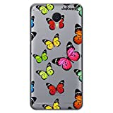 dakanna Funda Compatible con [ Meizu M3 Note ] de Silicona Flexible, Dibujo Diseño [ Estampado de Mariposas Multicolor ], Color [Fondo Transparente] Carcasa Case Cover de Gel TPU para Smartphone