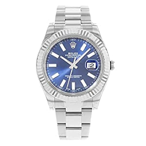 Fashion Shopping NEW Rolex Datejust II Stainless Steel and 18K White Gold Blue Dial Mens watch 116334 BLIO by Rolex