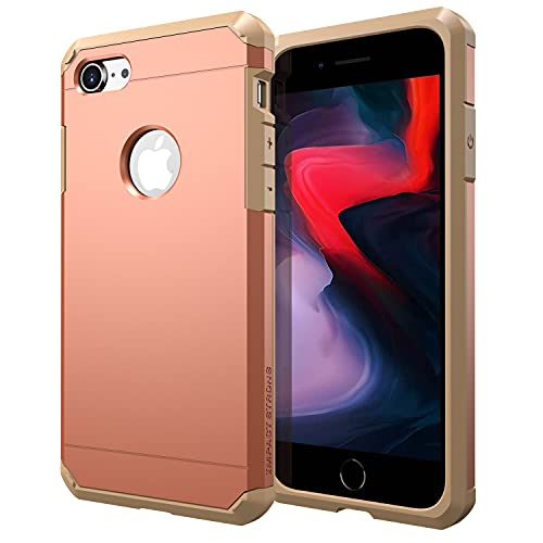 iPhone 7/8 Case, ImpactStrong Heavy Duty Dual Layer Protection Cover Heavy Duty Case for Apple iPhone 7/8 (Peaches & Cream)