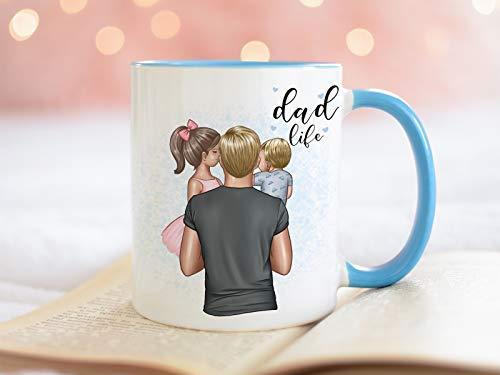 Personalisierte Tasse Papa mit Kind Vater Tochter Papi Sohn Vatertag Geschenk