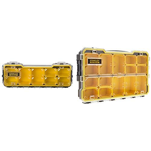 Stanley FATMAX FMST1-75779Organizador FatMax, 44 x 7.5 x 27 cm + Organizador FatMax 1/3 FMST1-75781, Negro