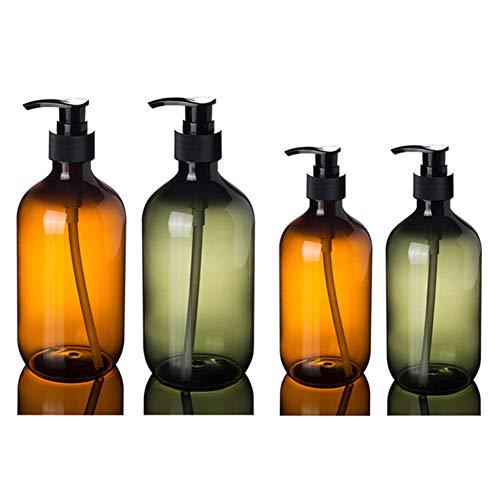 KingbeefLIU 300/500 Ml Lotion Shampoo Duschgelhalter Seifenspender Leere Bad Pumpflasche Home Tragbare Reise Abfüllung Leere Flaschen Braun 500 ml