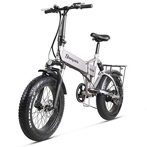 "Skyzzie Elektrofahrrad Ebike 20"" E-Bike E-Faltrad Mountainbike Klapprad mit 48V 12.8Ah Lithium-Akku,500W Motor 40km/h,LCD Display,Fat Bikes für Herren Damen"