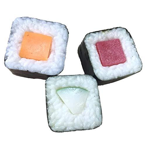 Xinger 3Pcs Feestelijke Benodigdheden Kunstmatige Decoraties Levensmiddelen Simulatie Japans Sushi Model Nep Koken Horeca Display Props, 3st, M