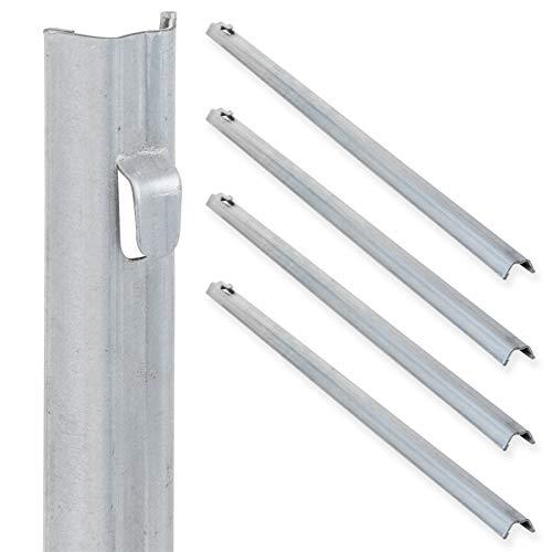 VOSS.farming 5X W-Profil Zaunanker 50cm für Wildzaun, verzinkter Stahl, mit Befestigungsanker, Knotengeflecht