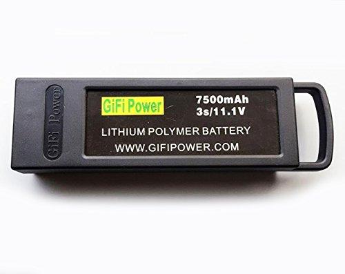 7500mAh 3s Upgrade Battery for YUNEEC Q500 / Q500+ / Q500+PRO / Q5004K / Yuneec Q500 4K Typhoon G RC Drone (Black)