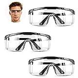 HONGCI 3*Gafas, Protección Antivaho y UV, Gafas Transparent