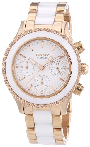 DKNY Damen-Armbanduhr Chronograph Quarz Verschiedene Materialien NY8825