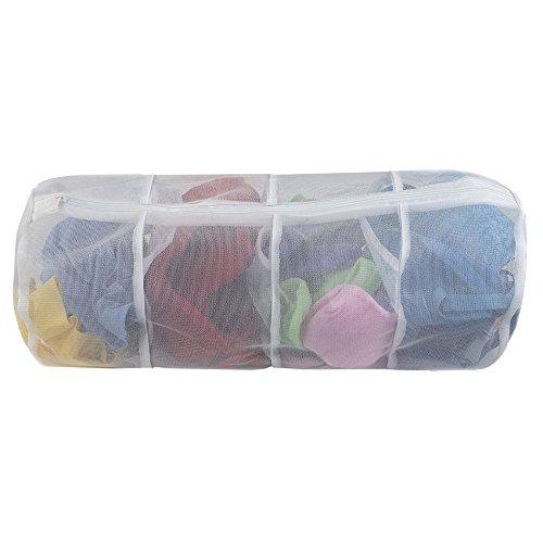 Sunbeam 4 Compartment Micro Mesh Delicates Wash Laundry Bag, White