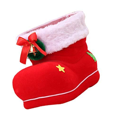 BESPORTBLE Natal Bota Doce Pendurado Meias de Natal Presentes de Natal Meias Ãrvore de Natal Pendurado Decoração Enfeite de Festa de Natal Abastecimento (Vermelho)