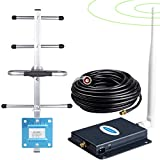 AT&T Cell Phone Signal Booster 4G LTE Cell Phone Booster ATT T-Mobile Cricket US Cellular Band 12/17 ATT Cell Signal Booster AT&T Signal Booster Amplifier Repeater Cell Extender Antenna Kit for Home