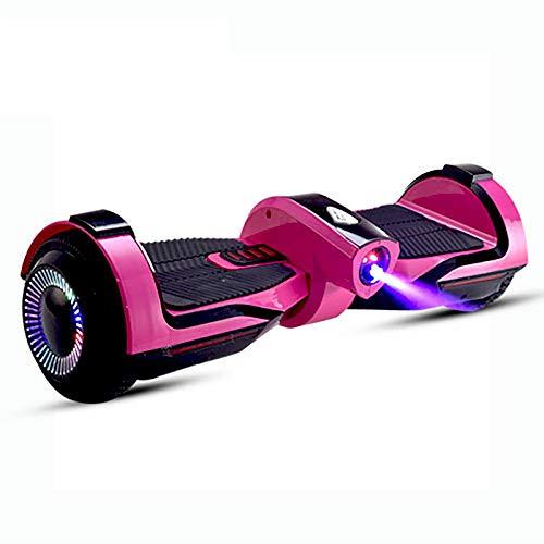 Hoverboards Self-Balancing Elektro Scooter Elektroroller für Erwachsene und Kinder Sprühdampf Zweirad-Balance-Roller mit LED, Rose red