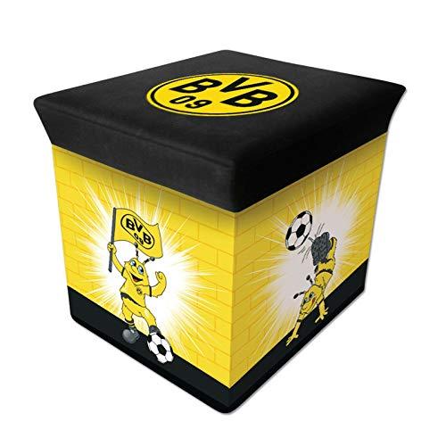 Eternity-Moebel24 Original BVB-Sitzbox Emma Borussia Dortmund Spielzeugbox Spielzeugtruhe Hocker