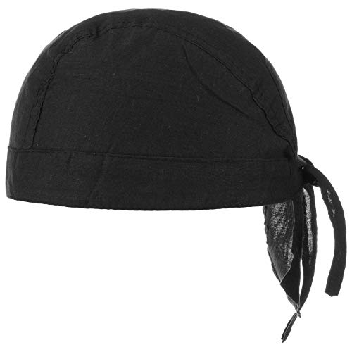 Baumwoll Bandana Corsaire Damen/Herren - Kopftuch aus Baumwolle - Sommer/Winter - Piratentuch schwarz