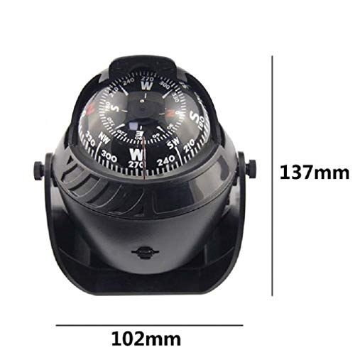 Auto Truck Boot Zelfklevende Navigatie Kompas Bal 12V LED-licht Dashboard Decoratie Ornament
