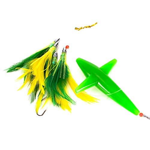 YIDOU Gonna da pesca a traina con piume Tonno Esca Esca da pesca Wobbler Artificiale Plastica Esca dura