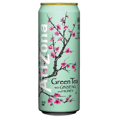 ARIZONA 827195 Green Tea with Ginseng & Honey 23 oz Can 24/Case