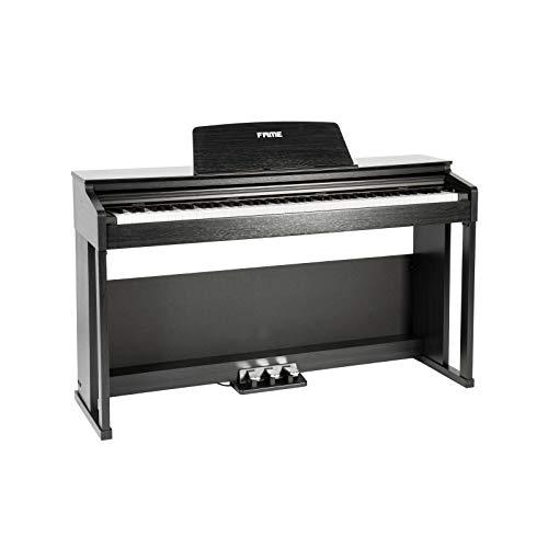 Fame DP-3000 BK Digital Piano matt schwarz (Elektronisches Klavier für Einsteiger mit Hammermechanik, 88 Tasten, 3 Pedale & Kopfhörer-Anschluss)