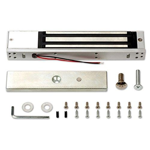 600LBS Holding Force Single Door Electric Magnetic Lock Electromagnetic Lock for Door Access Control System with Built in Door Sensor