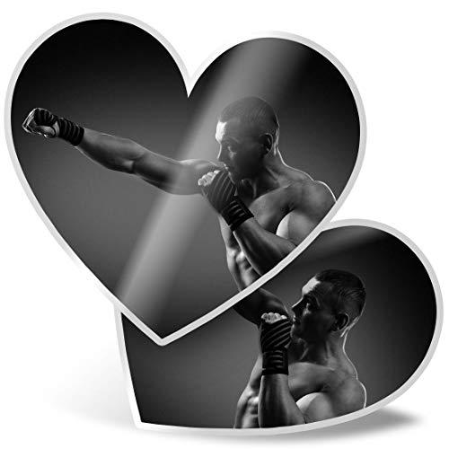 BW 42622 - Adesivi a forma di cuore, da 7,5 cm, per boxe, MMA, palestra, fitness, fitness, per computer portatili, tablet, bagagli, scrapbooking, frigorifero, ottimo regalo