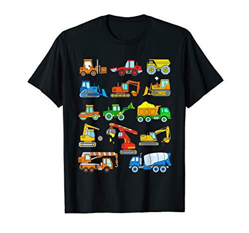 TShirt Bagger Junge Fahrzeuge Baustelle Kinder T-Shirt