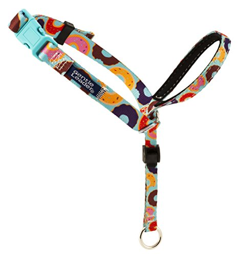 PetSafe Chic Gentle Leader Headcollar, No-Pull Dog Collar – Perfect for Leash & Harness Training – Stops Pets from Pulling and Choking on Walks – Large, Donuts
