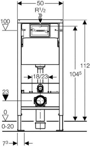 Geberit 458103001 Montage-Element Duofix Basic für Wand-WC, mit Spülkasten UP100 112 cm - 3