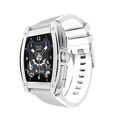 PYAIXF Reloj Inteligente, Pantalla De 1,57 Pulgadas Cinturón GPS Detección De Frecuencia Cardíaca Llamada Bluetooth Carga Magnética por Hombres Y Mujeres 5 Colores-White